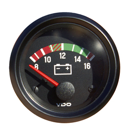"Voltmeter, ""COCKPIT INTERNATIONAL"", 52 mm"