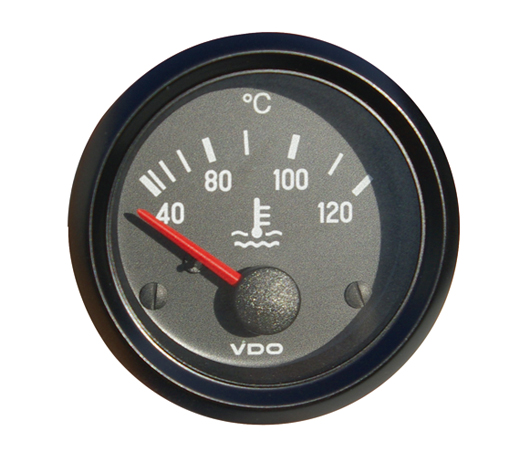 "Water thermometer ""COCKPIT INTERNATIONAL"", 52 mm, zwart"