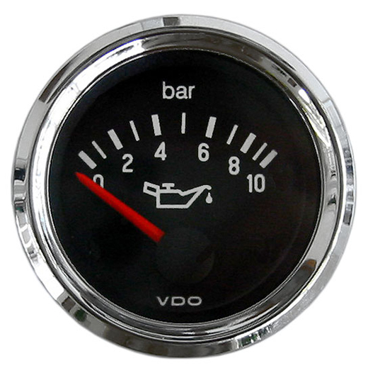 "Oliedrukmeter ""COCKPIT INTERNATIONAL"", 52 mm, chroom, 10 bar"