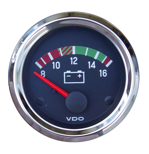 "Voltmeter ""COCKPIT INTERNATIONAL"", 52mm"