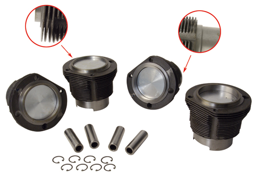 Piston and cylinder set 96 x 66 mm 1910cc