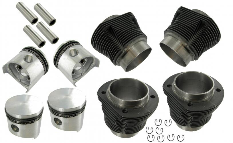 Piston and cylinder set, AA, 77 x 64 mm, 1200 ccm, 8.64-